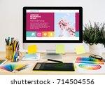 stationery desktop with design ...