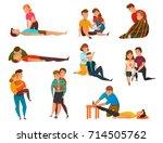 educative cardiac arrest... | Shutterstock .eps vector #714505762
