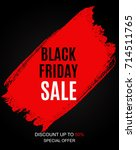 black friday sale inscription... | Shutterstock .eps vector #714511765