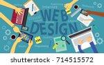 vector illustration. top view... | Shutterstock .eps vector #714515572