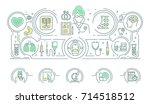 contour  thin  flat design.... | Shutterstock . vector #714518512