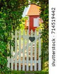White Wooden Garden Gate With...