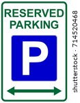 reserved parking sign with left ... | Shutterstock .eps vector #714520468