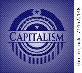 capitalism denim background | Shutterstock .eps vector #714525148
