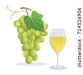 grapes and wine | Shutterstock .eps vector #714526906