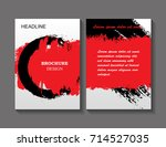 business brochure cover design... | Shutterstock .eps vector #714527035