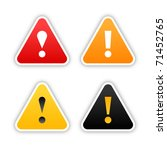four  warning stickers with... | Shutterstock .eps vector #71452765