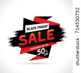 black friday sale with discount ... | Shutterstock .eps vector #714530752