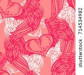 graphic old school rockabilly... | Shutterstock .eps vector #714534982