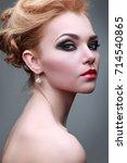closeup portrait of sexy...   Shutterstock . vector #714540865