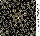 art deco lace pattern with... | Shutterstock .eps vector #714546118