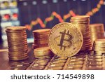 digital currency  bitcoin | Shutterstock . vector #714549898