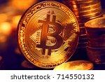 digital currency  bitcoin | Shutterstock . vector #714550132