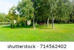 green field with lovely sunlight   Shutterstock . vector #714562402