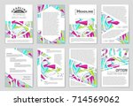 abstract vector layout... | Shutterstock .eps vector #714569062