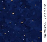 starry night background ... | Shutterstock .eps vector #714571522
