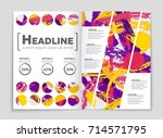 abstract vector layout... | Shutterstock .eps vector #714571795