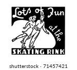 lots of fun at the skating rink ... | Shutterstock .eps vector #71457421