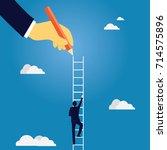 business leadership concept.... | Shutterstock .eps vector #714575896