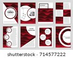 abstract vector layout... | Shutterstock .eps vector #714577222