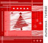 christmas  background. vector ... | Shutterstock .eps vector #7145860