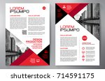 business brochure. flyer design.... | Shutterstock .eps vector #714591175