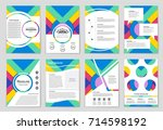 abstract vector layout... | Shutterstock .eps vector #714598192