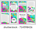 abstract vector layout... | Shutterstock .eps vector #714598426