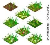 garden or farm isometric tile... | Shutterstock .eps vector #714602452