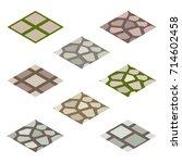 garden or farm isometric tile...   Shutterstock .eps vector #714602458