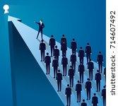 vector illustration  business... | Shutterstock .eps vector #714607492