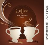 coffee talk | Shutterstock .eps vector #71461438