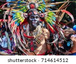 day of the dead parade in... | Shutterstock . vector #714614512