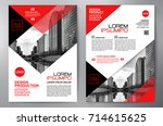 business brochure. flyer design.... | Shutterstock .eps vector #714615625