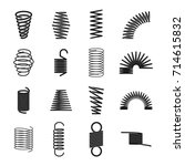 metal spring icon. elastic... | Shutterstock .eps vector #714615832