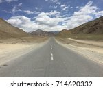 road through the mountains | Shutterstock . vector #714620332