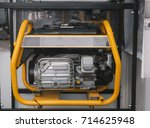 gasoline portable generator... | Shutterstock . vector #714625948