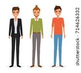 business people team work... | Shutterstock .eps vector #714626332