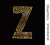 gold abstract fontline