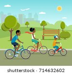 young father mother and son... | Shutterstock .eps vector #714632602