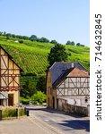 riquewihr  a medieval village... | Shutterstock . vector #714632845