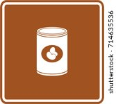canned beans sign | Shutterstock .eps vector #714635536
