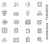 business vector icon set | Shutterstock .eps vector #714636532