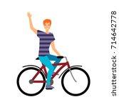colorful illustration set of... | Shutterstock .eps vector #714642778