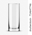 empty glass cup isolated vector | Shutterstock .eps vector #714647746