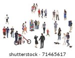 a lap around the promenade | Shutterstock .eps vector #71465617