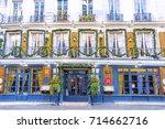 paris  france   december 11 ... | Shutterstock . vector #714662716