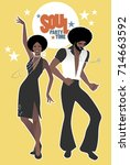 soul party time. young couple...   Shutterstock .eps vector #714663592