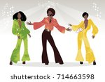 soul party time. group of man...   Shutterstock .eps vector #714663598
