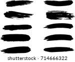 set of grunge brush strokes | Shutterstock .eps vector #714666322